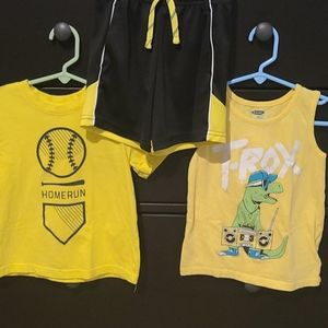 Summer Bundle Boys 3T Short and Tee Set